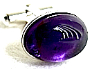 Amethyst Silver Cufflinks and Pipestem Studs.