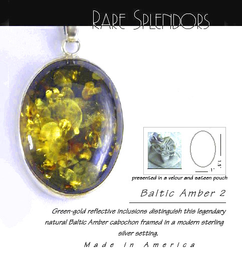Baltic Amber Timeless Fashion™ Silver Pendant 2