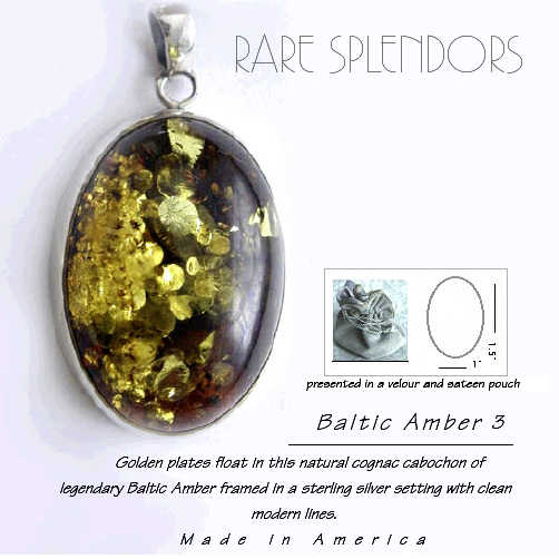 Baltic Amber Timeless Fashion™ Silver Pendant 3