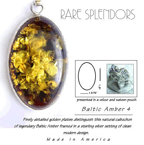 Baltic Amber Timeless Fashion™ Silver Pendant 4