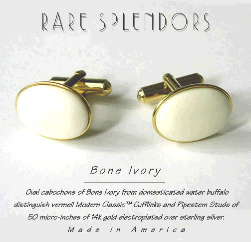 Bone Ivory Cufflinks and Studs