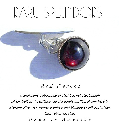 Garnet Sheer Delight™ Lightweight Cufflinks