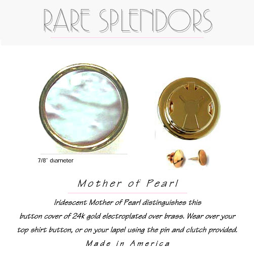 White Mother Of Pearl Button Cover