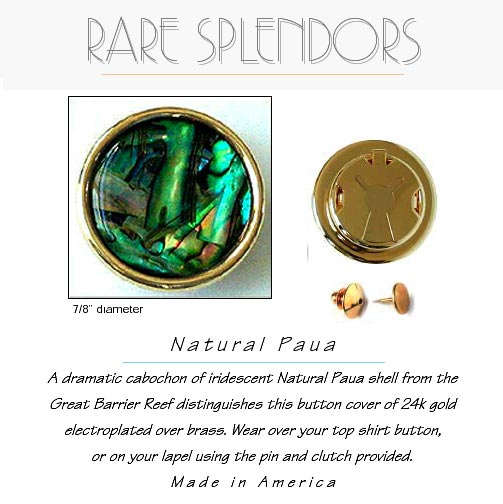 Paua Shell Button Cover