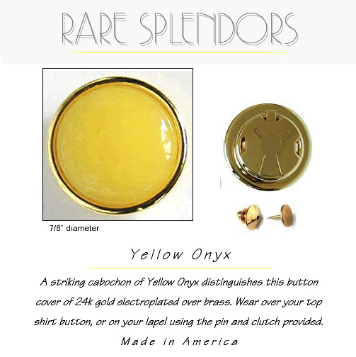 Yellow Onyx Groomsmen Gifts Button Cover
